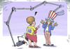 Cartoon: Secret America (small) by rodrigo tagged brazil america usa us united states spy security terrorism privacy dilma rousseff obama