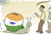 Cartoon: Snailections (small) by rodrigo tagged india,elections,voting,people,population,campaign