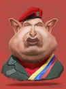 Cartoon: hugo chavez (small) by alvarocabral tagged caricature caricatura