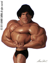 Cartoon: Lou  Ferrigno (small) by alvarocabral tagged caricature