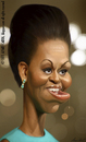Cartoon: Michelle Obama (small) by alvarocabral tagged caricature