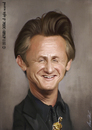 Cartoon: Sean penn (small) by alvarocabral tagged caricature
