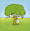 Cartoon: Tobi im Glück (small) by Yavou tagged pizzapitch pizza baum tree yavou kartunz arbre illustration illustrationen schlaraffenland hunger glück dickes kind kid child fat fast food übergewicht adipositas essstörung funghi salami peperoni