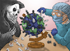 Cartoon: Deadly Match (small) by cartoonistzach tagged coronavirus,covid19,pandemic,health,global,doctor,chess