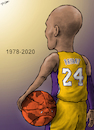 Cartoon: Kobe Bryant 1978-2020 (small) by cartoonistzach tagged sports basketball kobe bryant nba caricature