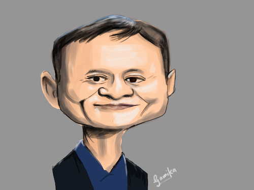 Cartoon: Jack Ma caricature (medium) by Gamika tagged caricature,jack,ma,cartoon