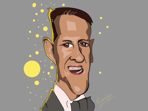 Cartoon: Michael Schumacher (medium) by Gamika tagged caricature,cartoon,sports,german