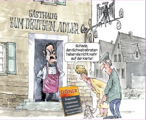 Cartoon: zum Deutschen Adler (medium) by Ritter-Karikaturen tagged ritter,karikatur