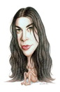 Cartoon: Alanis Morissette (small) by Gero tagged caricature