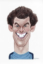 Cartoon: Andy Murray (small) by Gero tagged caricature