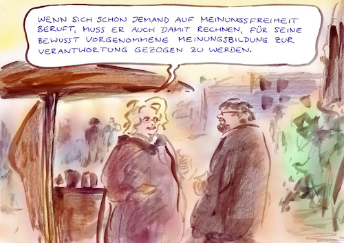 Cartoon: Anspruchskonsequenz (medium) by Bernd Zeller tagged meinung
