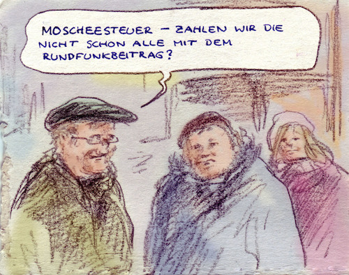 Cartoon: Doppelbelastung (medium) by Bernd Zeller tagged steuern