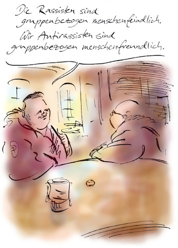 Cartoon: Ganz anders (medium) by Bernd Zeller tagged gesinnung