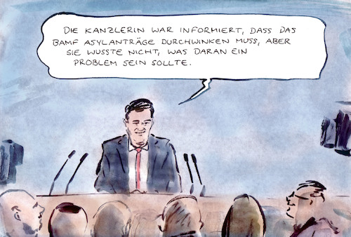 Cartoon: Kenntnisstand (medium) by Bernd Zeller tagged kanzlerin