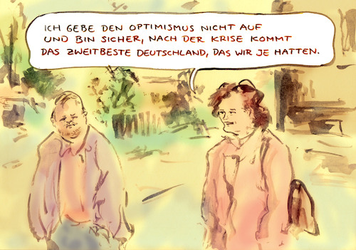 Cartoon: Zuversicht (medium) by Bernd Zeller tagged virus