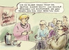Cartoon: Demographiegipfel (small) by Bernd Zeller tagged demographie,zuwanderung,migration,geburtenrate,merkel
