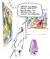 Cartoon: Kunstgenuss (small) by Bernd Zeller tagged kunst,maler,galerie