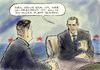 Cartoon: US-Debatte (small) by Bernd Zeller tagged usa,wahlen,elections,obama,romney,president