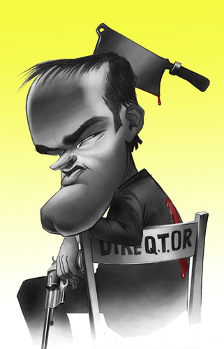 Cartoon: QUENTIN TARANTINO (medium) by Nenad Vitas tagged pulp,fiction,film,director,kill,bill