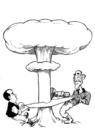 Cartoon: Medvedev and Obama in Prague (small) by Nenad Vitas tagged new,salt,nuclear,weapons
