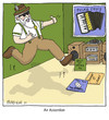 Cartoon: Air Accordion (small) by noodles tagged accordion air guitar polka music jumping