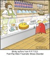 Cartoon: Blinky (small) by noodles tagged pacman,video,games,cheese,ptsd