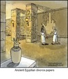 Cartoon: Egypt (small) by noodles tagged ancient,egypt,divorce