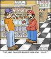 Cartoon: Marios Pipe (small) by noodles tagged mario,brothers,male,supplements,size,noodles,herbs,store