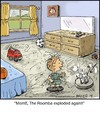 Cartoon: Pig-Pen (small) by noodles tagged pigpen,dirty,roomba,explode,noodles
