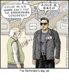 Cartoon: Terminator (small) by noodles tagged terminator,schwarzenegger,bach,music,noodles