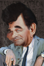 Cartoon: Peter Falk as Lieutenant Columbo (small) by Francesco tagged peterfalk,columbo