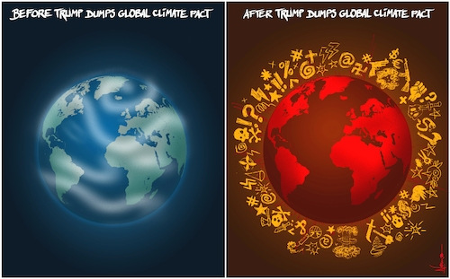 Cartoon: Climate Change (medium) by NEM0 tagged world,president,donald,trump,earth,planet,propaganda,fake,news,fear,climate,change,hoax,con,scam,paris,agreement,accord,pact,co2,carbon,tax,greenhouse,gasses,environment,nemo,nem0,world,president,donald,trump,earth,planet,propaganda,fake,news,fear,climate,change,hoax,con,scam,paris,agreement,accord,pact,co2,carbon,tax,greenhouse,gasses,environment,nemo,nem0