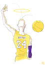 Cartoon: Kobe Bryant Rings It (small) by NEM0 tagged usa,kobe,bryant,basketball,player,ball,sports,athlete,celebrity,ring,halo,nemo,nem0