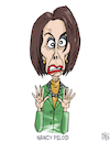 Cartoon: Nancy Pelosi (small) by NEM0 tagged nancy,pelosi,democrat,minority,leader,house,speaker,congress,congresswoman