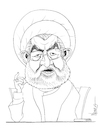Cartoon: President Rouhani (small) by NEM0 tagged hassan,rouhani,iranian,president,iran
