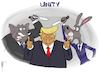 Cartoon: Unity (small) by NEM0 tagged gop,rnc,dnc,anti,trump,unity,republicans,democrats,us,politics,death,threats,coup,etat,indictment,impeach,impeachment,amendment,25,nem0,nemo
