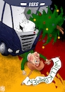 Cartoon: Willkommen (small) by NEM0 tagged berlin,christmas,attack,terror,terrorism,refugee,crisis,salafist,salafism,angela,merkel,religion,fanatism,security,surveillance,nemo,nem0