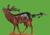 Cartoon: Hirsch (small) by Battlestar tagged jägermeister,hirsch,tier,tiere,illustration,schmerz,jäger,tod,sterben