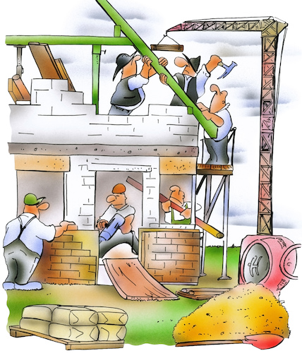 Cartoon: construction (medium) by HSB-Cartoon tagged construction,scaffolding,ladder,brick,building,site,timber,roof,tile,concretewall,window,hard,hat,toolbelt,cement,mixer,builder,plumber,electrician,work,worker,handcraft,baustelle,bauarbeiter,handwerker,hausbau,house,wohnungsbau,architect,architekt,bauleiter,maurer,mauerwerk,beton,zimmerer,zimmermann,cartoon,cartoonzeichner,construction,scaffolding,ladder,brick,building,site,timber,roof,tile,concretewall,window,hard,hat,toolbelt,cement,mixer,builder,plumber,electrician,work,worker,handcraft,baustelle,bauarbeiter,handwerker,hausbau,house,wohnungsbau,architect,architekt,bauleiter,maurer,mauerwerk,beton,zimmerer,zimmermann,cartoon,cartoonzeichner