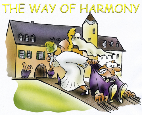 Cartoon: harmony (medium) by HSB-Cartoon tagged married,harmony,husband,wife,couple,man,hochzeit,mann,frau,heirat,wedding,cartoon,marriage,karikatur,airbrush,heirat,heiraten,liebe,hochzeit
