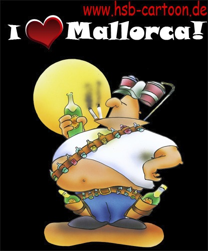 Cartoon: mallorca holiday (medium) by HSB-Cartoon tagged holiday,mallorca,beer,drunk,drunken,whiskey,cognac,urlaub,bier,alkohol,alcohol,party,fete,ballermann,malle,cowboy,ferien,freizeit,cartoon,karikatur,caricature,airbrush,hsbcartoon,hsbfaktory