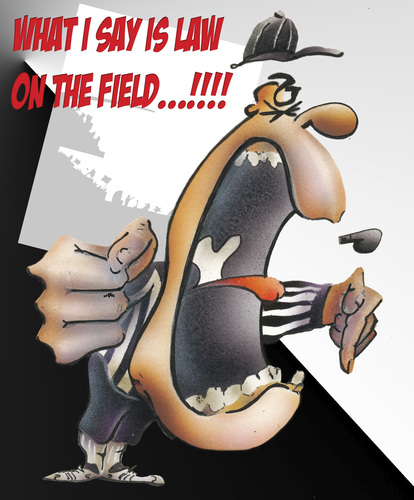 Cartoon: referee (medium) by HSB-Cartoon tagged referree,sport,football,americanfootball,law,pitch,schiedsrichter