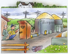 Cartoon: Biogas (small) by HSB-Cartoon tagged biogas,energie,plumpsklo,toilette,strom,stromerzeugung