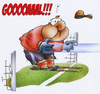 Cartoon: Gooooooaaal (small) by HSB-Cartoon tagged goal,goalkeeper,football,soccer,game,defender,tackle,penalty,shot,ball,fußball,fußballspieler,torwart,airbrush