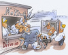 Cartoon: Hospital Drive Inn (small) by HSB-Cartoon tagged doctor,hospital,attendance
