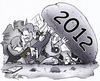 Cartoon: Karikaturen 2012 (small) by HSB-Cartoon tagged karikatur,karikaturist,karikaturen,cartoons,jahr,jahreswechsel,stein,2012,zeichnen,zeichner,reporter,airbrush