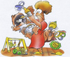 Cartoon: lucky mother (small) by HSB-Cartoon tagged mother,parents,baby,child,kid,father,airbrush