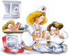 Cartoon: nurse (small) by HSB-Cartoon tagged krankenschwester,nurse,chiold,children,patient,emergency,notfall,operation,pflaster,trost,kind,kinderarzt,klinik,hospital,ambulanz,erstehilfe,first,aid,plaster,pain,schmerz,doctor,doc,arzt,ärztin,behandlung,behandlungsraum,kinderkrankenschwester,arzthelferin,cartoon,cartoonmotiv,hurt,medical,examination