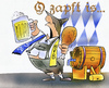 Cartoon: Oktoberfest (small) by HSB-Cartoon tagged oktoberfest,bier,haxe,bayern,trachten,bierfass,s04,schalke,bvb,borussia,dortmund,fussball,cartoon,karikatur,caricature,airbrush