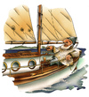 Cartoon: the old skipper (small) by HSB-Cartoon tagged skipper,sailing,sail,sailingboat,boat,ship,row,seaman,sailor,ocean,sea,segler,segeln,segelschiff,schiff,kapitän,yacht,charter,segelboot,meer,hafen,harbour,harbort,port,mole,segelschule,cartoon,cartoonist